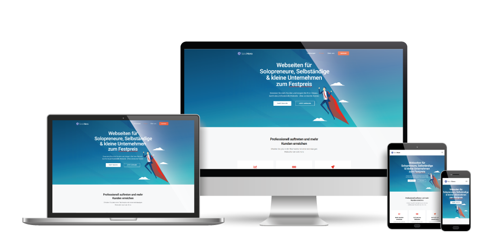 Solohero Webdesign Leistungen Responsive